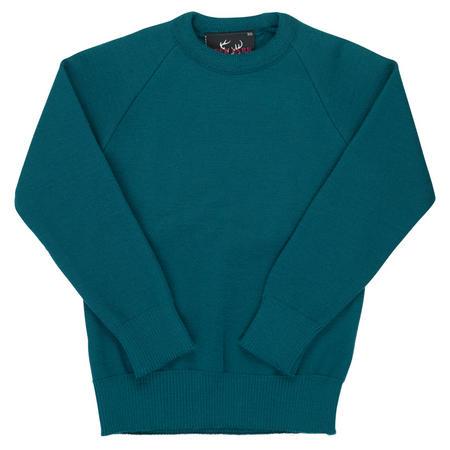Crew Neck Knit Jumper Green