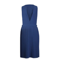 Junior Pleated Pinafore Blue