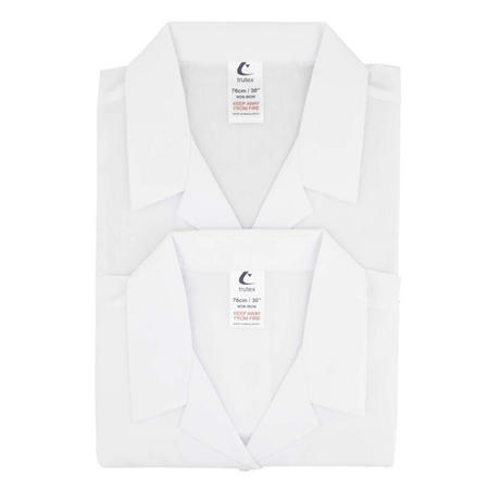 Trutex Twin Pack Revere Collar Long Sleeve White