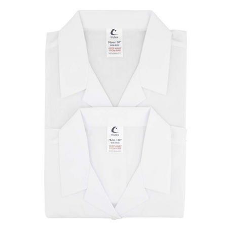 Trutex 2 Pack White Girls Blouse Short Sleeves