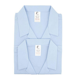Two-Pack Long Sleeve Revere Blouse Blue