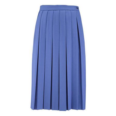 Wool Blend Pleated Senior Skirt
