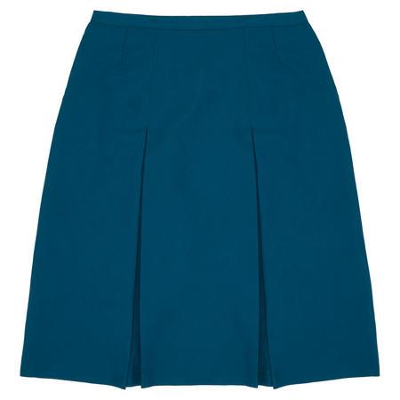 School Uniform Pleated Skirt Green