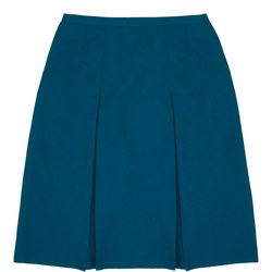 School Uniform Pleated Skirt Green