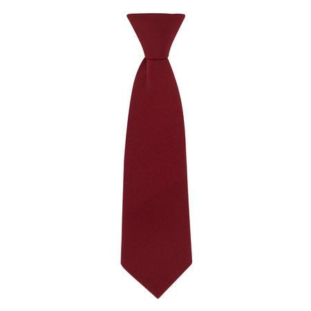 Plain Elastic Tie Red