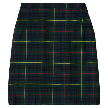 Short School Skirt Green