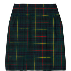 Short School Skirt Green
