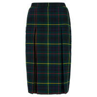 Midi School Skirt Green
