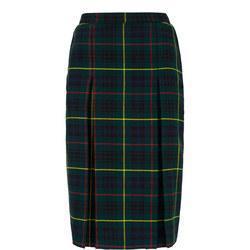 Green Tartan School Skirt