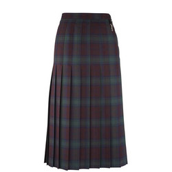 School Uniform Tartan Skirt Green