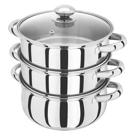 3 Piece Steamer With Glass Lid 20Cm