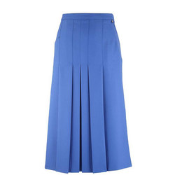 Box Pleat Skirt Blue
