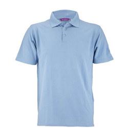 Blue Girls Aertex Polo Shirt