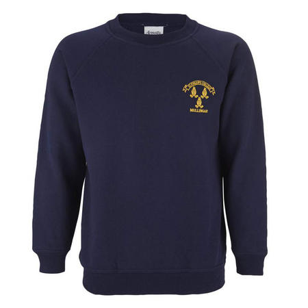 Crested Track Top Blue