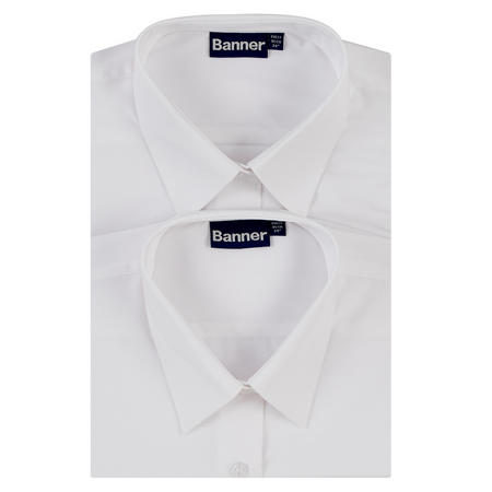 Two-Pack Standard Collar Shirts White