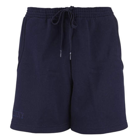 Girls Navy Crested Sports Shorts