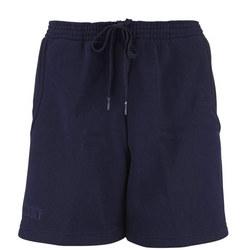 Girls Navy Crested Sports Shorts
