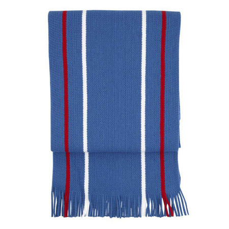 Acrylic striped Scarf Senior Blue