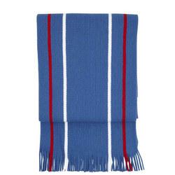 Acrylic striped Scarf Senior Blue