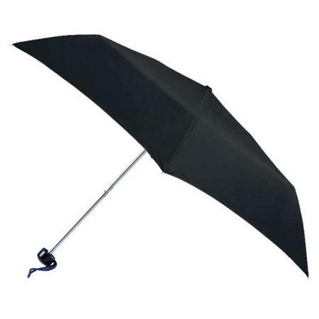 Steel 6 Rib S/Mini Plain Black Umbrella Black