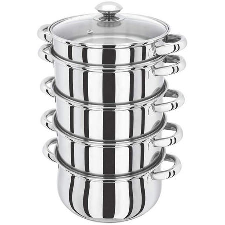 20cm 5piece Multi Steamer with Glass Lid
