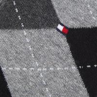 Two-Pack Check Socks Dark Grey