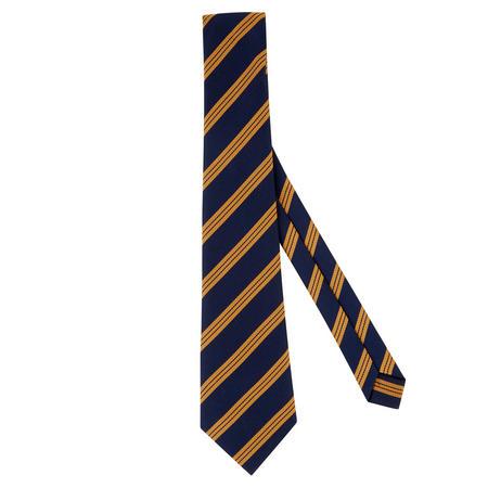 Diagonal Striped Tie Navy