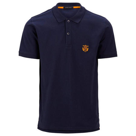 Aro Embroidery Polo Shirt Navy