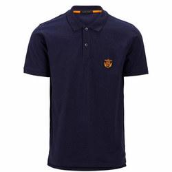 Aro Embroidery Polo Shirt Navy