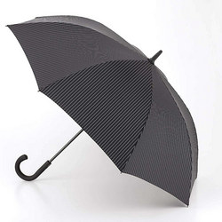 Knightsbridge-2 City Stripe Umbrella Black