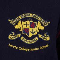 Junior Crested Fleece Top Navy