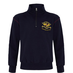 Junior Crested Fleece Top Navy