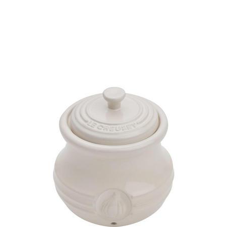 Stoneware Garlic Keeper Almond