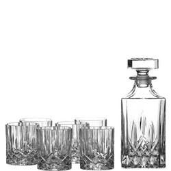 Decanter and Six Tumbler Glasses
