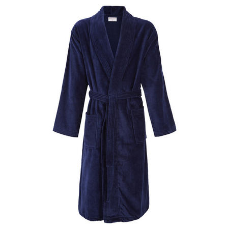 Velour Bath Robe Navy