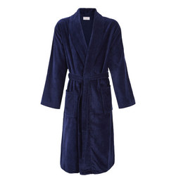 Velour Bath Robe Navy
