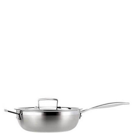 3 Ply Chefs Pan With Lid 24 Cm