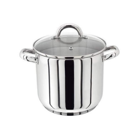 18/10 S/S Stockpot With Glass Lid 24Cm