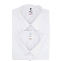 Trutex Boys Trutex L/Sleeve Twin Pack Shirts White