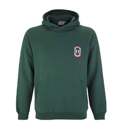 Crested Hoodie Green