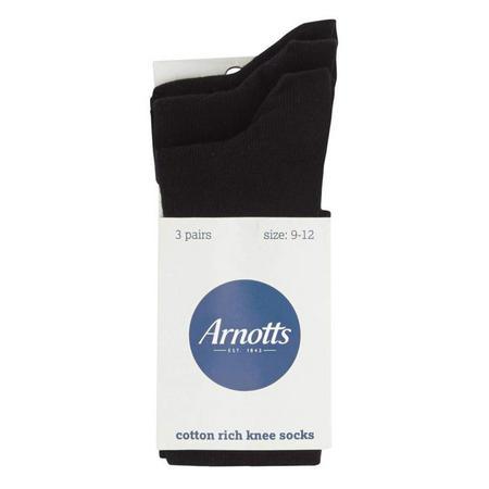 Arnotts 3 Pack Socks Black