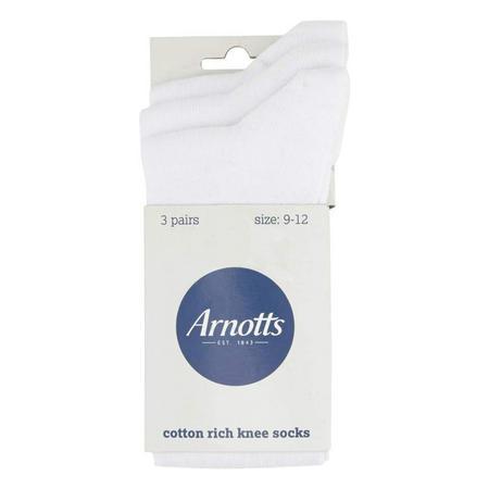 Arnotts 3 Pack Socks White