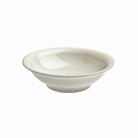 Linen Small Shallow Bowl Beige