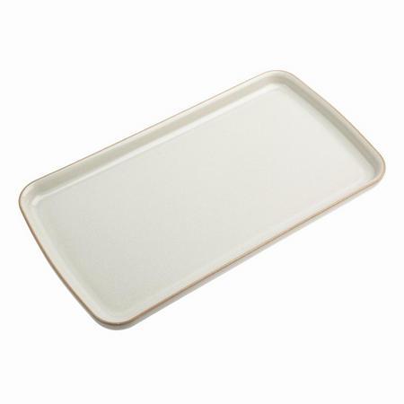 Linen Rectangular Plate Beige