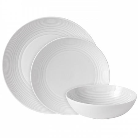 Gordon Ramsay Maze White 12 Piece Dinner Set
