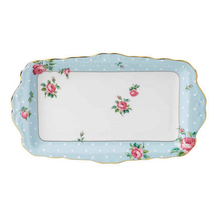 Polka Dot Sandwich & Cake Tray Blue