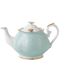 Polka Rose Vintage Teapot