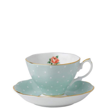 Tea Cup & Saucer Polka Rose