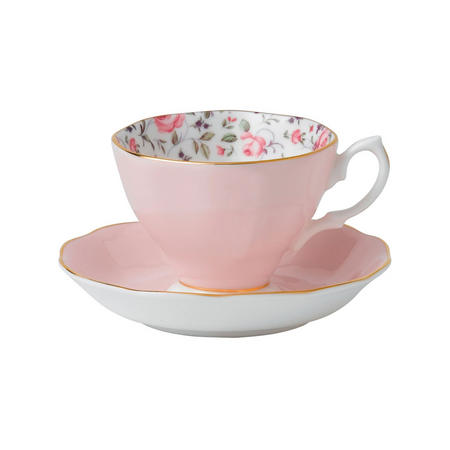 Rose Confetti Teacup & Saucer Boxed Set Multicolour