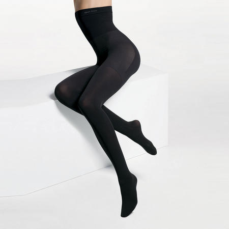 Ultra-Fit High Waisted Opaque Tights Black